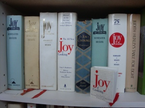 "7 Editions of ""Joy of Cooking"" in my collection"