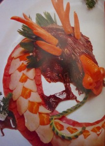 "The Good Luck Dragon.  Recipe and photo from ""Chinese Appetizers and Garnishes"" by Huang Su-Huei"