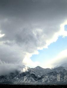 Sandia Peak near Placitas, New Mexico.  Photo by Sue Jimenez