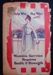 """Back cover of """"War-Time Cook and Health Book"""", 1917"""