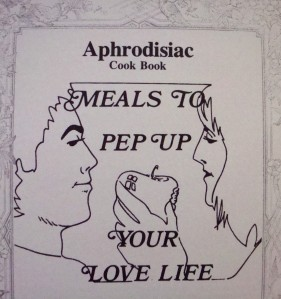 """Frontispiece from """"The Aphrodisiac Cook Book"""", by JonPaul Frascone and Mark Allen, David, 1975"""