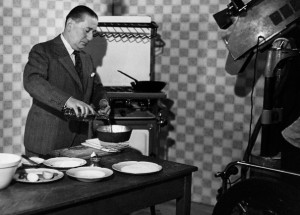 Chef Marcel Boulestin Cooking for the BBC, November 1, 1938