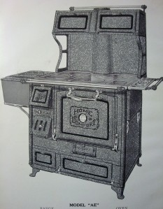 "Home Comfort Range Model ""AE"", ca. 1923 -1933, manufactured by the Wrought Iron Range Co."
