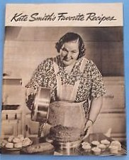 """Kate Smith's Favorite Recipes"", published in 1939"