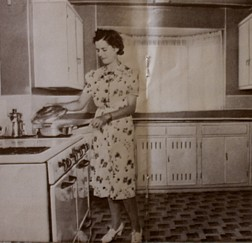 mom in 1939 kitchen