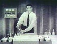 Ron Popeil 'pitching' his 'Chop-O-Matic'