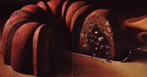 "The Ever Popular ""Tunnel of Fudge"" a prize-winning recipe submitted by Mrs. C.J. Helfrich of Houston, Texas, for the 17th Annual Pillsbury Bake-Off, 1966"