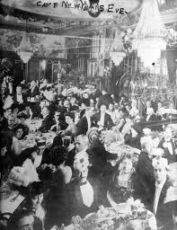 New Years at a fancy restaurant, ca. 1910 - 1913