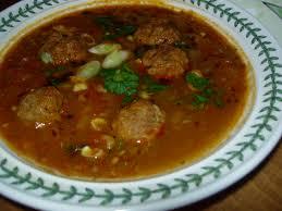 Albondigas, meatball soup