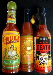 Hot sauces in my pantry