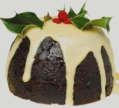 Traditional Plum Pudding with Hard Sauce (this one needs more Hard Sauce!)