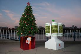 "The Christmas Tree powered by Brussels Sprouts, created by a team from the ""Big Bang UK Young Scientists and Engineers Fair"""