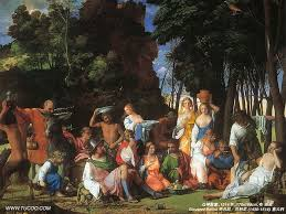 """The Feast of the Gods"", by Giovanni Bellini and Titian (1514/1529)"