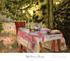"""Table Set in a Garden"", by Pierre Bonnard (c. 1908)"