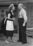 "Ethel and Fred Mertz, from the ""I Love Lucy"" show.  Fred was known to wear an apron on occasion, too"