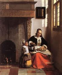 """A Woman Peeling Apples"", by Pieter de Hooch (1629 - 1684)"