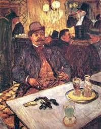 """M. Boileau at the Cafe"", by Henri de Toulouse-Lautrec, 1888"