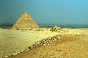 Cairo, Egypt - The Pyramids of Giza, 1984.  Photo by Sue Jimenez