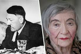 Adolf Hitler and Margot Woelk, one of his food tasters.  She turned 95 in 2012 and lived to tell the tale.  (Photo credit:  www.santafenewmexican.com)
