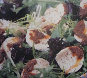 "Mozzarella Salad with Sun-Dried Tomatoes.  Photo and Recipe from ""Food of the World - Italy"", by Linda Doeser"