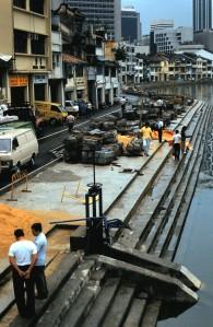 The Docks, Singapore, 1986.  Photo by Sue Jimenez
