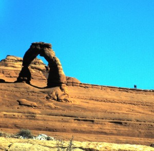 Delicate Arch - Arches National Park, Utah, 1997.  Photo by Sue Jimenez