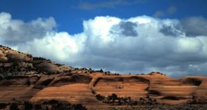 Highway 191, South of Moab, Utah, 1997.  Photo by Sue Jimenez