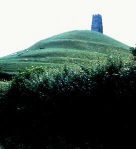 Glastonbury Tor, Somerset, England, 1988.  The Tor figures heavily in Arthurian legends. (Photo by Sue Jimenez)