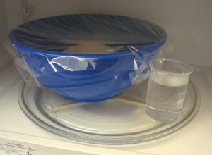 Into the microwave with 8 ounces of water