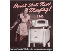 This ad for Maytag dishwasher was on the back of an old newspaper clipping recipe