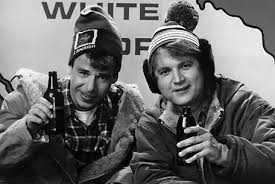 "Rick Moranis & Dave Thomas, of SCTV in 1980. Their ""Great White North"" introduction always began with ""Gday, eh?"" (Photo Credit: en.wikipedia.org)"