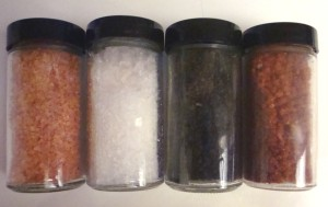 Alaea Sea Salt, White Silver Sea Salt, Black Lava Sea Salt, Red Gold Sea Salt