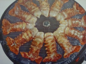 "12 rock lobster tails in 1957 - about $13.92.  Today?  Somewhere in the neighbourhood of ""no way""! ($180)"