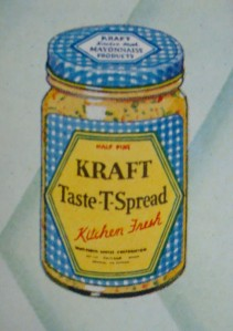 """Kraft-Phenix """"Taste-T-Spread""""  Not sure what happened to this one.  (Photo from """"Kitchen Fresh Ideas"""" by Marye Dahnke, 1931)"""