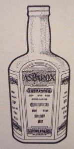 """Asparox"" from Armour & Co., Chicago, a blend of meat extract and asparagus juice - wonder where that one went! (Photo from ""Culinary Wrinkles"", Armour & Co., 1903)"