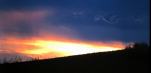 Arizona sunset, 1997 (Photo by Sue Jimenez)