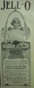 """Ad for """"Jell-O"""" in the November, 1906 issue of """"Table Talk"""""""