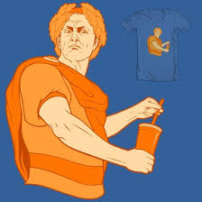 "Did Julius Caesar invent ""Orange Julius""?  (Photo Credit:  threadless.com)"