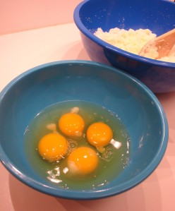 4 eggs to be beaten and added to the creamed mixture