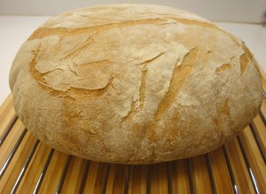 The bread was done after 50 minutes in a 400 degree oven
