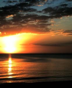 Sunset, Captiva Island, 1996 (Photo by Sue Jimenez)