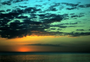 Captiva Island Sunset, 1996 (Photo by Sue Jimenez)
