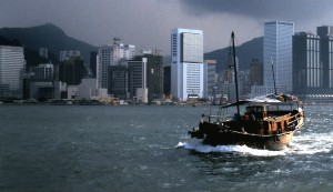 Hong Kong Harbour, 1986 (Photo by Sue Jimenez)