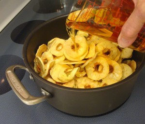 Add the apple juice