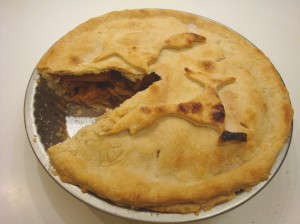 A tasty, but very dense and solid apple pie!