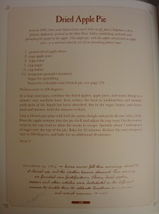 """Dehydrated Apple Pie"" from The Lewis & Clark Cookbook"