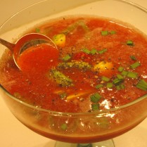 Iced Tomato and Vodka Soup