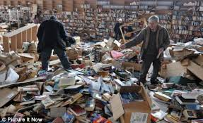 What can happen when you put 4,528 cookbooks on the second floor of your house (Photo Credit:  www.the-two-malcontents.com)