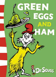 """Green Eggs and Ham"" by Dr. Suess (Photo Credit:  www.blogs.ajc.com)"