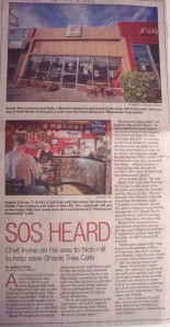 """Albuquerque Journal article 10/18/2014 about the upcoming """"Restaurant Impossible"""" remake"""